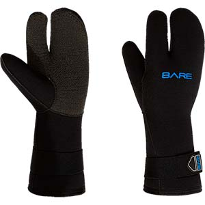 Bare 7mm K-Palm Three Finger Mitt