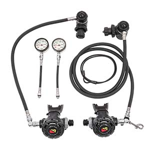 Dive Rite XT Nomad Sidemount Regulator Package