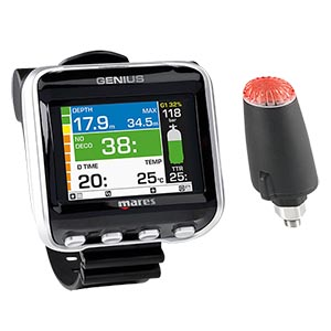 Mares Genius Wrist Dive Computer with LED Transmitter