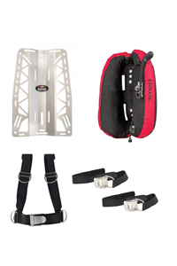 Dive Rite Travel BackPlate and Wing Package