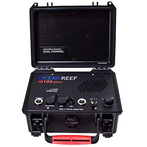 OCEAN REEF M105 Digital Dual Channel Transceiver Surface Unit with Battery Tester