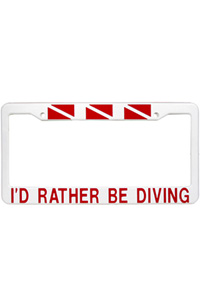 Rather Be Diving License Frame
